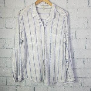 Joie Striped Blue/White Button Up Shirt